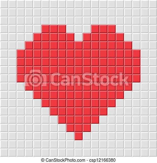 心, ピクセル - csp12166380