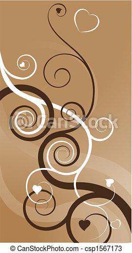 心, 渦巻, 抽象的, 背景 - csp1567173