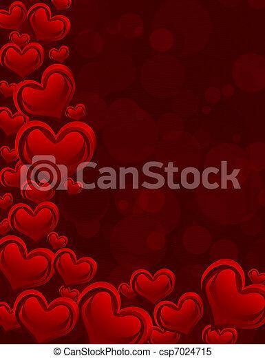 心, 紅的背景 - csp7024715
