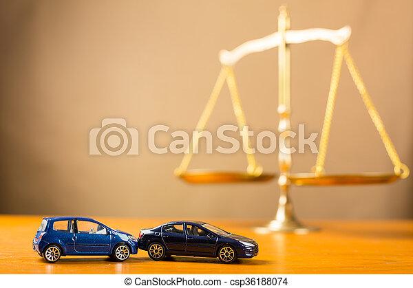 必要性, 自動車事故, 正義 - csp36188074