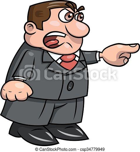 怒る, 2, 叫ぶこと, 上司 - csp34779949