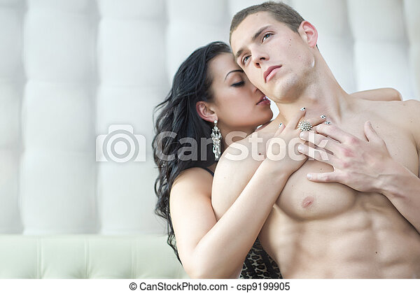 性感, 夫婦, 姿態, 浪漫 - csp9199905