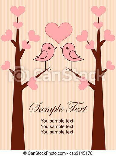 恋人, かわいい, 鳥 - csp3145176