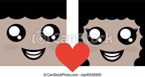 恋人, シンボル, すてきである - csp45545908
