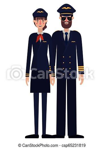 恋人, パイロット, 特徴, avatar - csp65231819