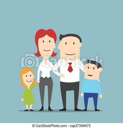 恋人, 子供, 家族ビジネス - csp37349473