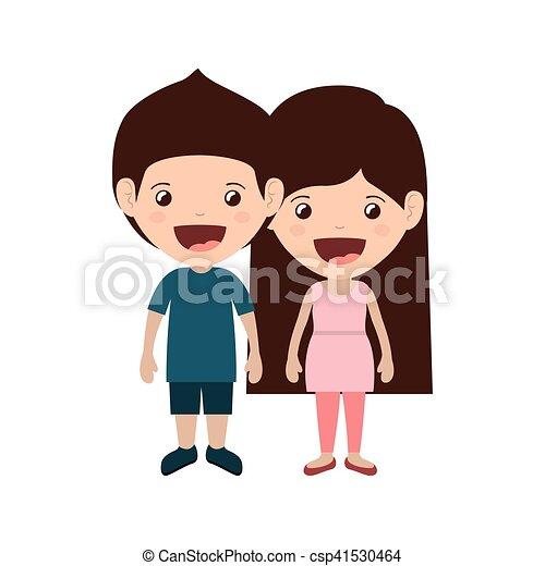 恋人, 子供, 微笑 - csp41530464