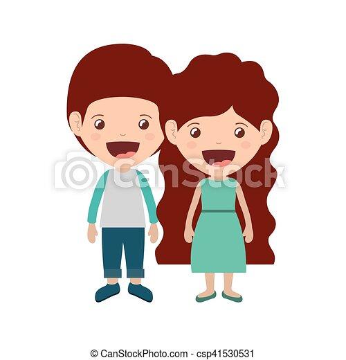 恋人, 子供, 微笑 - csp41530531