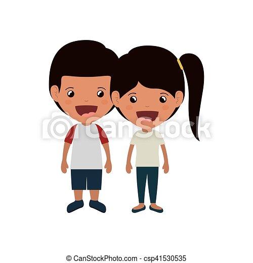 恋人, 子供, 微笑 - csp41530535