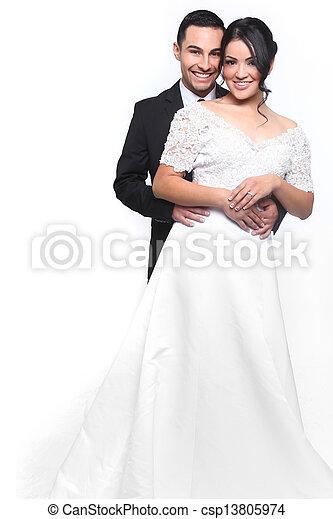 恋人, 幸せ, 愛, 結婚式 - csp13805974