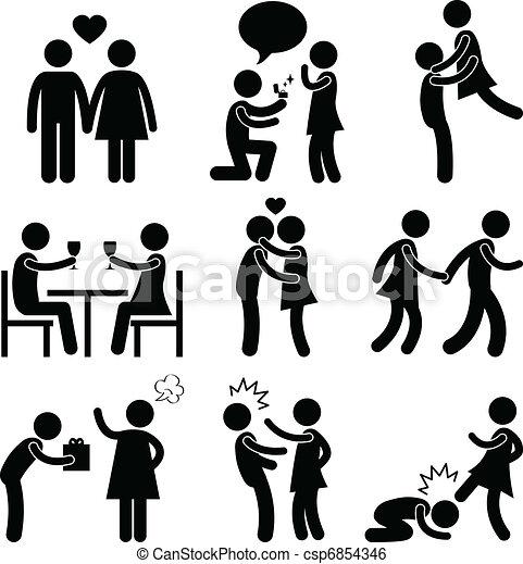 恋人, 抱擁, 愛, 提案, 恋人 - csp6854346