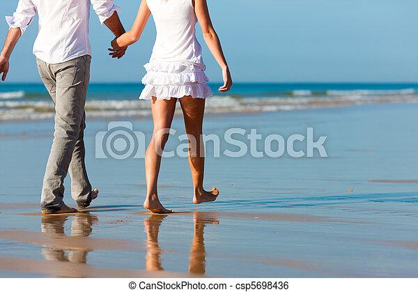 恋人, 歩きなさい, 持つこと, 休暇 - csp5698436