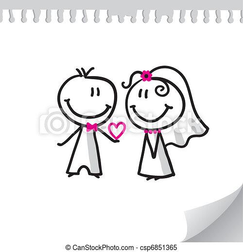 恋人, 結婚式 - csp6851365