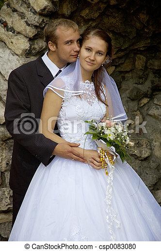 恋人, 結婚式 - csp0083080