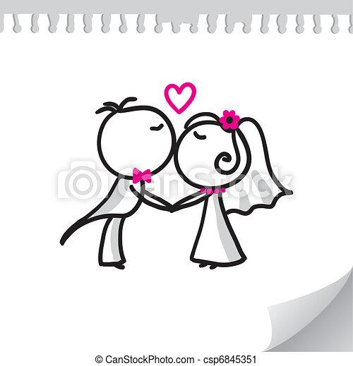 恋人, 結婚式 - csp6845351