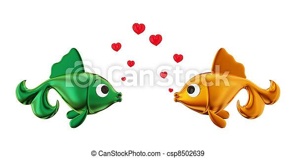 恋人, fishes., 情事 - csp8502639