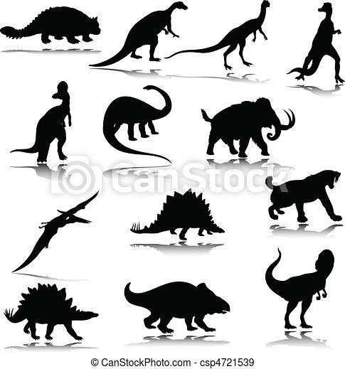 恐竜 シルエット イラスト