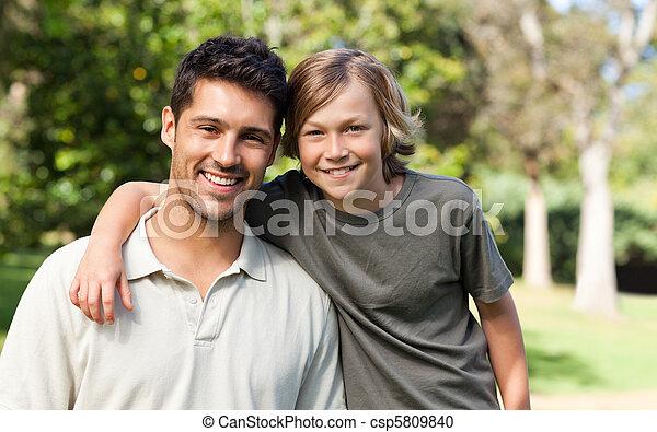 息子, 父, 公園, 彼の - csp5809840