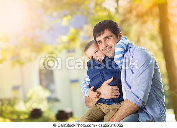 息子, 父, 自然 - csp22610052