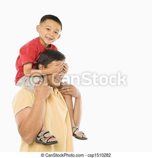 息子, 肩。, dad\'s - csp1510282
