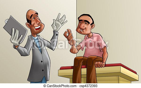 患者, 医者 - csp4372393