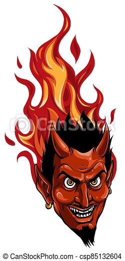 悪魔, ∥あるいは∥, 悪魔, グラフィック, イメージ, マスコット, ベクトル, 頭 - csp85132604