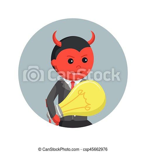 悪魔, ビジネス考え, 背景, 盗みをはたらく, 円, 人 - csp45662976