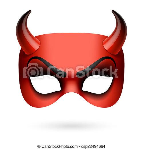 悪魔, マスク - csp22494664