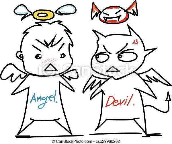 悪魔, 天使 - csp29960262
