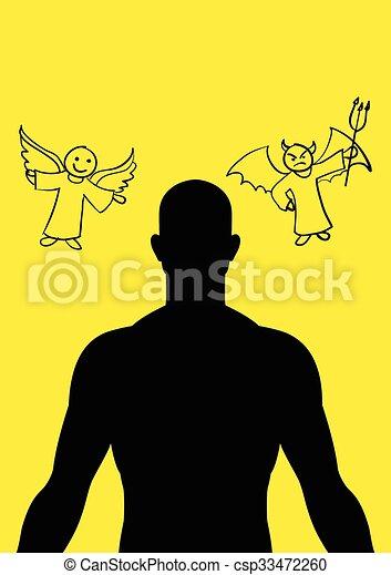 悪魔, 天使 - csp33472260