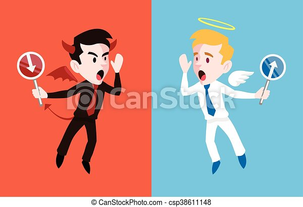 悪魔, 天使 - csp38611148