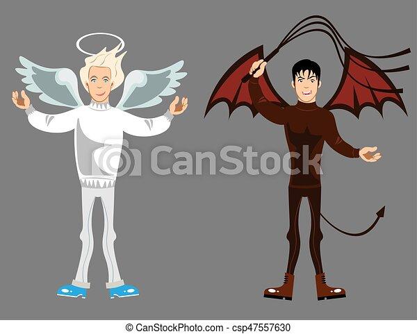 悪魔, 天使 - csp47557630