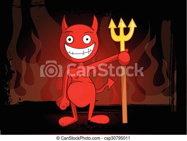 悪魔, 赤 - csp30795011