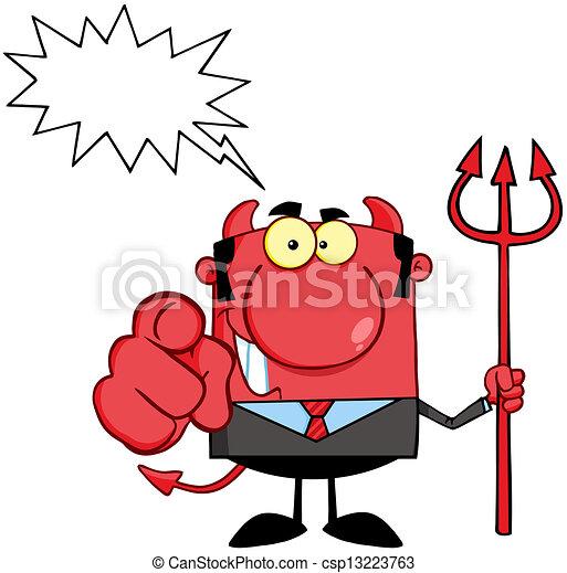 悪魔, trident, 上司 - csp13223763