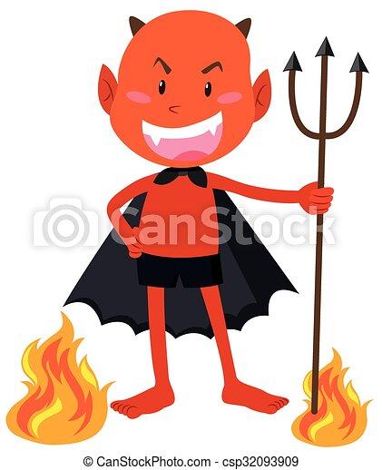 悪魔, trident, 保有物, 角 - csp32093909
