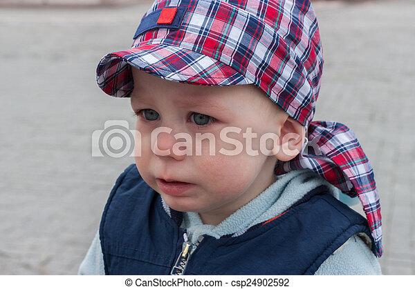 悲しい, 叫ぶこと, 子供 - csp24902592