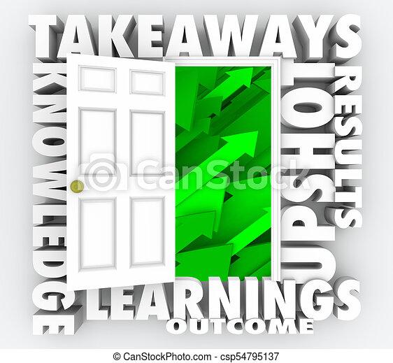 情報, ドア, 知識, takeaways, イラスト, 新しい, 開いた, 3d - csp54795137