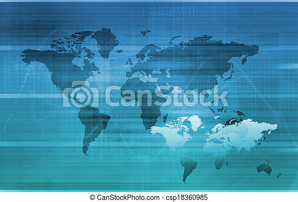 情報, 世界的である, 技術 - csp18360985