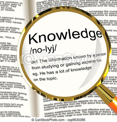 情報, 知識, 定義, 知性, 提示, magnifier - csp9530386