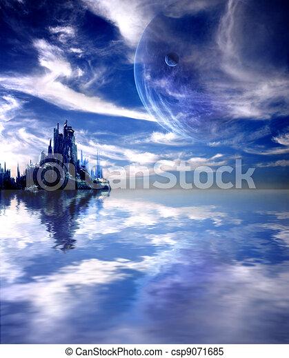 惑星 ファンタジー 風景 コラージュ 惑星 風景 ファンタジー