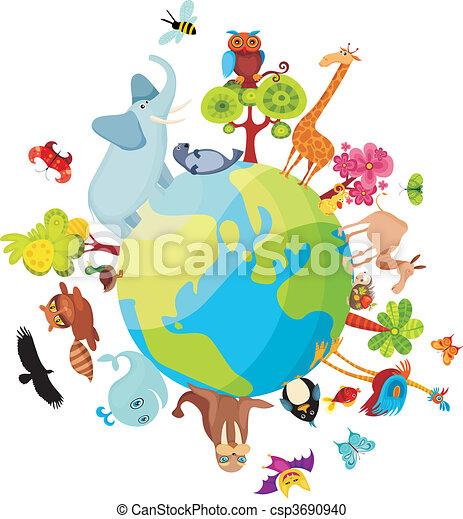 惑星, 動物 - csp3690940