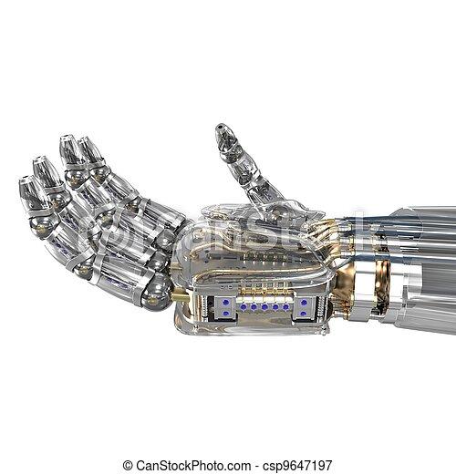 想像, オブジェクト, ロボット, 手を持つ - csp9647197