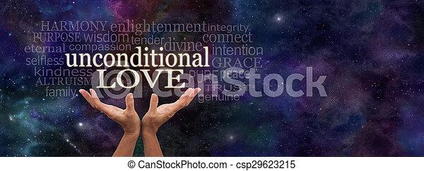 愛, 単語, unconditional, 雲 - csp29623215