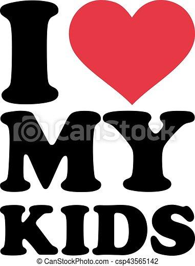 愛, 子供, 私 - csp43565142