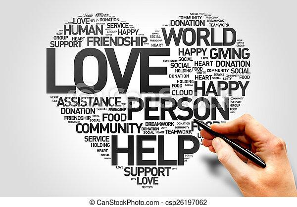 愛, 生産性, 慈善 - csp26197062