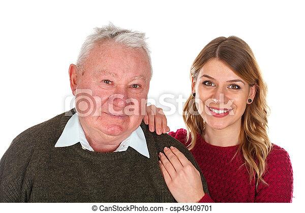 愛, 私, 祖父 - csp43409701