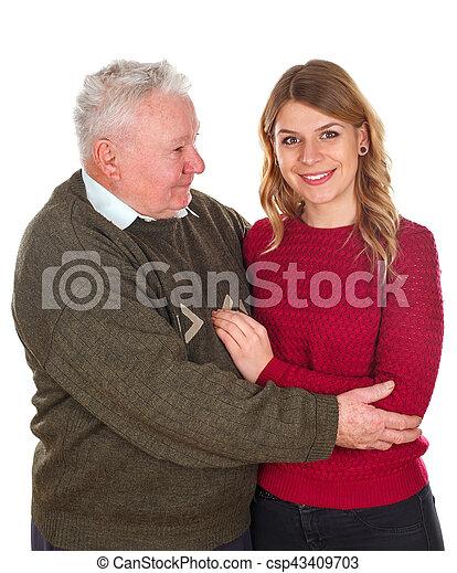 愛, 私, 祖父 - csp43409703