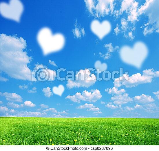 愛, 背景, 自然 - csp8287896
