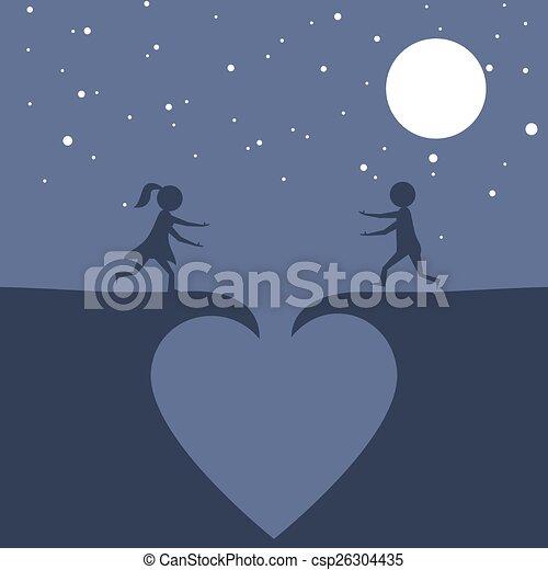 愛, 落ちる, 恋人 - csp26304435