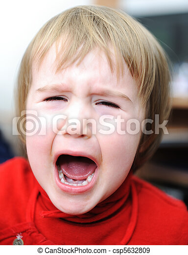 感情的, 赤ん坊, 叫ぶこと, 現場 - csp5632809